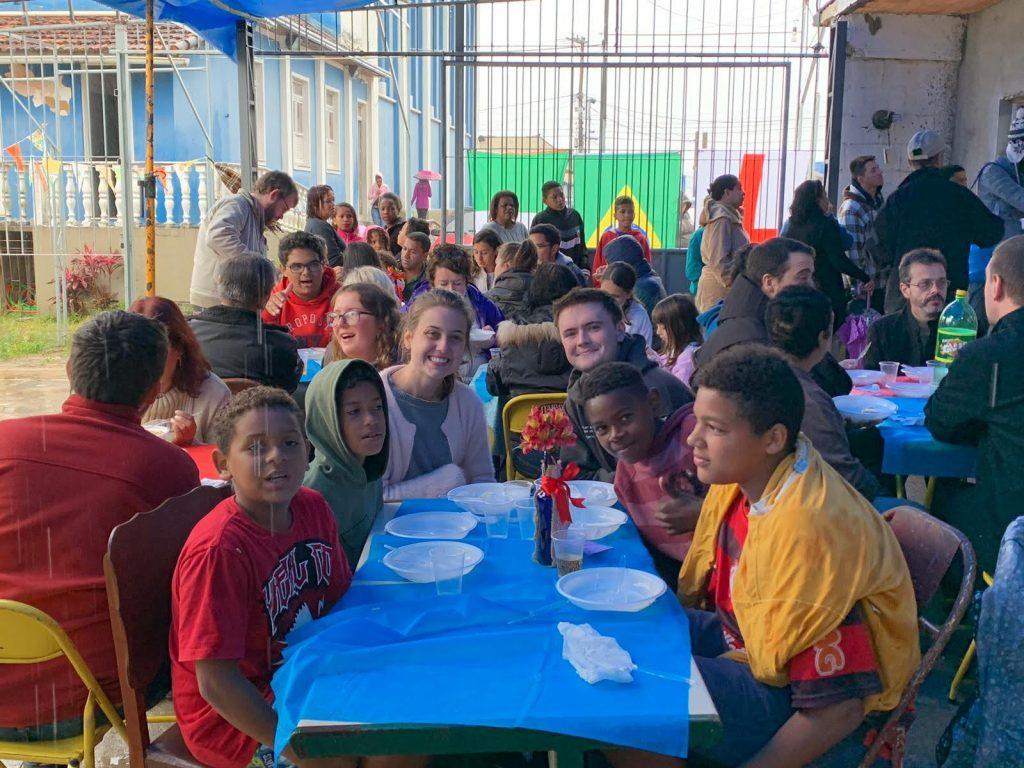 Almoco na comunidade Meio da Serra